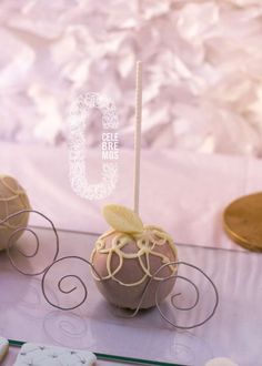 Carriage cake pops at a Cinderella birthday party! See more party ideas at CatchMyParty.com!