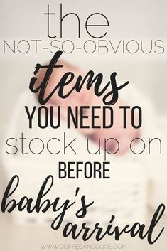 Getting ready for baby's arrival? Here is a list of the not-so-obvious items you need to have on hand when you come home from the hospital. Avoid leaving the house with your new baby and stock up ahead of time! Baby | Newborn | Must-have Items | Preparing for Baby | Pregnancy | Home from the Hosptial