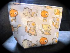 The Cat's Meow Makeup Bag by LittleGrayBoutique on Etsy, $12.99