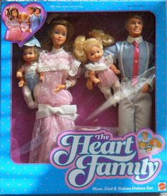 The Heart Family barbies - My sister had this one (at least, I remember she had the Mom and little girl, who knows what happened to the boys...lol).