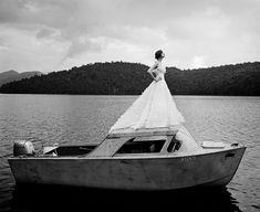 Laura On Top Of Boat, Lake Placid, NY 2006 Rodney Smith