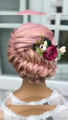 Easy Hairstyles For Long Hair, Up Hairstyles, Pretty Hairstyles, Braided Hairstyles, Wedding Hairstyles, Front Hair Styles, Medium Hair Styles, Fishtail Updo, French Fishtail