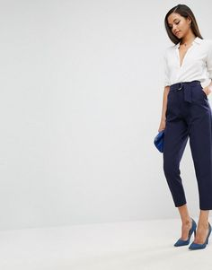 Asos Tailored Peg Pants with D-Ring Detail