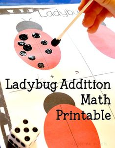Practice addition with this Roll & Add Ladybug Spots Worksheet! Fun kindergarten addition printable!