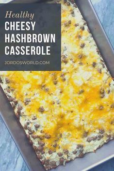 Say good morning to the healthy cheesy hashbrown casserole recipe that is so easy you could accidentally make it! Hashbrown Casserole Recipe, Hash Brown Casserole, Casserole Recipes, High Protein Recipes, Healthy Breakfast Recipes, Brunch Recipes, Healthy Recipes, Easy Oven Recipes, Frozen Hashbrowns