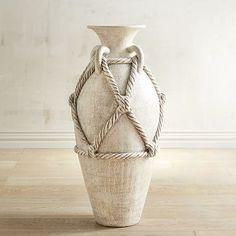 Rope Terracotta Floor Vase