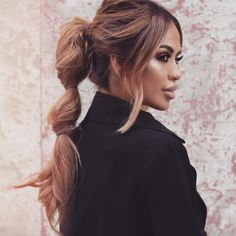 iluvsarahii hair how to bubble ponytail updo ideas ponytail ideas karen sarahii gonzalez Bubble Ponytail, Ponytail Updo, Ponytail Hairstyles, Pretty Hairstyles, Ponytail Ideas, Twisted Ponytail, Simple Hairstyles, Prom Hairstyles, Hairstyle Ideas
