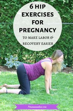 Hip exercises for pregnancy to help prepare expecting moms for labor, birth and postpartum. Glute Exercises help support the pelvic floor Pregnancy Announcement, Pregnancy Early Exercise For Pregnant Women, Exercise During Pregnancy, Pregnancy Workout, Pregnancy Fitness, Pregnancy Health, Pregnant Yoga, Pregnancy Vitamins, Prenatal Workout, Prenatal Yoga