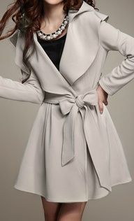 Trench coat.  I like that it's almost a dress in itself
