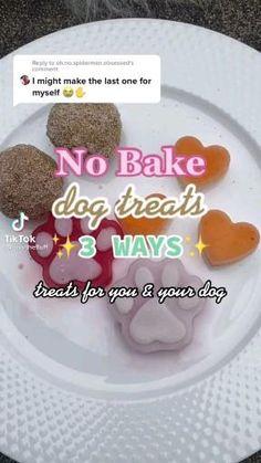 No Bake Dog Treats, Frozen Dog Treats, Puppy Treats, Diy Dog Treats, Puppy Food, Homemade Dog Treats, Healthy Dog Treats, Dog Cookie Recipes, Dog Biscuit Recipes