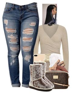 """Untitled #1640"" by toniiiiiiiiiiiiiii ❤ liked on Polyvore featuring Marc Jacobs, C/FAN, MICHAEL Michael Kors and UGG"