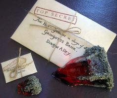 Etsy shout-out for Legendary Letters -- Doll-Size Harry Potter Sorcerer's Stone supplies.