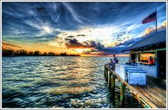 Anna Maria Island Pier Sunset by tebographics, via Flickr