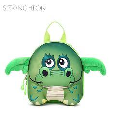 STANCHION New 3D Cute Animal Design Backpack Kids School Bags For Teenage Girls Boys Cartoon Shaped Children Backpacks Big Size