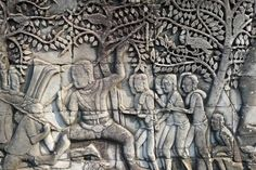 Beautiful Bas relief at Angkor Wat