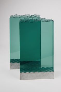Sheets of Glass Cut into Layered Ocean Waves by Ben Young