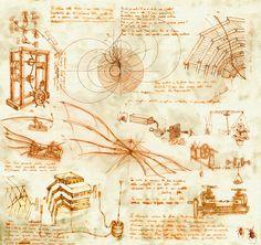 Bocetos de un genio, unico...innovador, soñador - Leonardo Da vinci