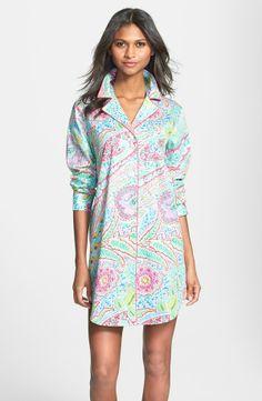 RALPH LAUREN Sateen Sleep Shirt Maldives Paisley $52