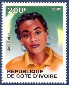 2009 Republique de cote d'ivoire postage - American actress Jada Pinkett (Smith)