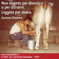 Non leggete per divertirvi o per istruirvi. Leggete per vivere. (Gustave Flaubert) - www.10righedailibri.it