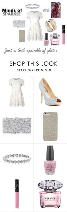 """""""Larrisa's Mind Of Sparkle♢"""" by rxbx4 on Polyvore featuring Glamorous, Badgley Mischka, Case-Mate, OPI, NARS Cosmetics and Versace"""