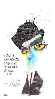 Julio Cortázar. Retrato del artista Pablo Bernasconi http://www.pbernasconi.com.ar/home.htm