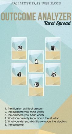 6 card tarot spread on personal responsibility