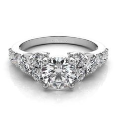 Diamond Engagement Ring Setting in 14k White Gold (1.00ct) - Allurez.com