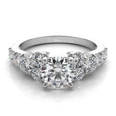 Diamond Engagement Ring Setting in 14k White Gold (1.00ct) - Allurez.com