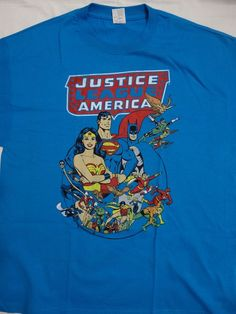 Justice League Batman Superman Wonder Woman Flash Dc Comics T-Shirt XL X-Large…