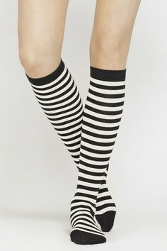 Really feeling these Tuovi Striped Knee Socks by #Marimekko | Kiitos Marimekko