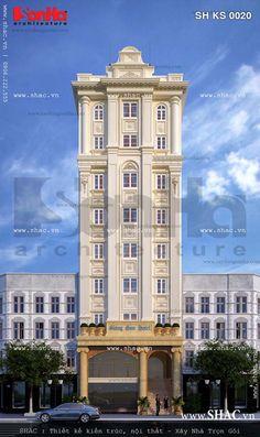 Thiết kế kiến trúc mãn nhãn của mẫu khách sạn kiểu Pháp tiêu chuẩn 3 sao tại Hải Phòng