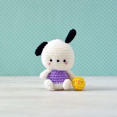 Pochacco Hello Kitty Crochet by amiguruMEI