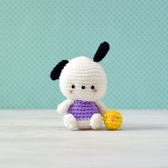 Pochacco Hello Kitty Crochet by amiguruMEI