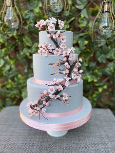 Cherry Blossom Cake, Cherry Blossom Wedding, 21st Birthday, Birthday Cake, Asian Party, Japanese Cake, Japanese Wedding, Pastry Cake, Beautiful Cakes