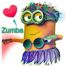 Hawaiian Zumba® minion ~ Almost time for Aqua Zumba® www.redwards.zumba.com or www.fb.com/ZumbaFitnessWithBecky