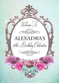 Butterfly Elegance Collection- PRINTABLE WELCOME SIGN - Sweet Scarlett Events