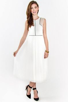 Pure Romance Pleated Chiffon Dress