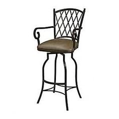 "Pastel Furniture Atrium 26"" Barstool with Arms in Autumn Rust Upholste"