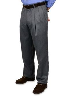 BERLE  Super 100s Gabardine Trouser