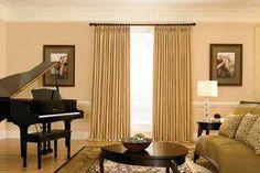 Living Room Design Ideas, Spacious Room Decorating around Grand Piano