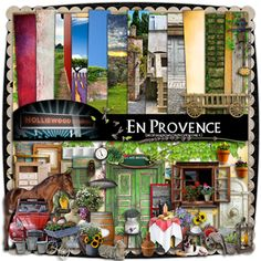 En Provence by Holliewood Studios @ mischiefcircus.com. A digital scrapbook / image kit.