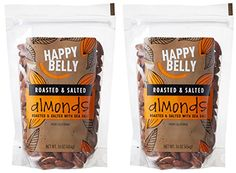 Happy Belly Roasted and Salted California Almonds, 16 oz, Pack of 2 >>> Quickly view this special deal, click the image : Baking Ingredients Gourmet Recipes, Baking Recipes, Snack Recipes, Dessert Recipes, Snacks, No Bake Desserts, Baking Desserts, California Almonds, Sweet Notes