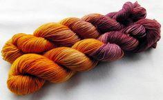Sockenwolle handgefärbt 100 g   *636* von Piratenwolle auf DaWanda.com