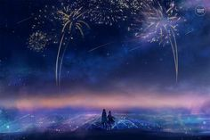 new beginnings. by sugarmints on DeviantArt Kawaii, Scenery Pictures, Hippie Art, Couple, Anime Scenery, Animes Wallpapers, New Beginnings, Ciel, Totoro