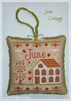 Stitches by Carin: June Cottage Cross Stitch Charts, Cross Stitch Designs, Cross Stitch Patterns, Cross Stitching, Cross Stitch Embroidery, Blackwork, Country Cottage Needleworks, Cross Stitch Finishing, Afghan Crochet Patterns