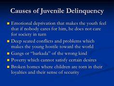 causes of juvenile delinquency essay