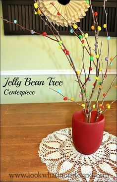jelly bean tree centerpiece #allthingseaster