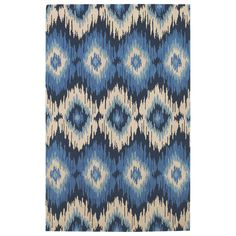 Capel Rugs Rally Navy Tufted Wool Rug