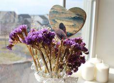 Custom Photo Plant Stake Rustic Home Decor by AlisaArtStudio